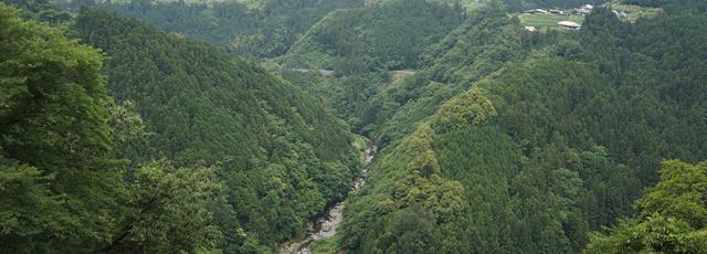 山 / V字谷と河成段丘